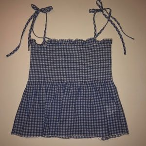 H&M Gingham Smock Top